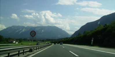 On the road to Bavaria - 120KPM is just a guideline :)