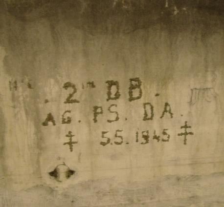 American liberators left their mark on the underground barracks in 1945.