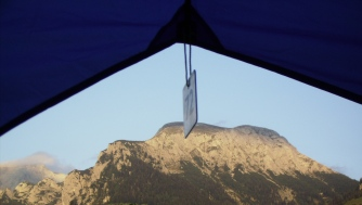 """The view from our """"luxury tent"""" is awesome."""