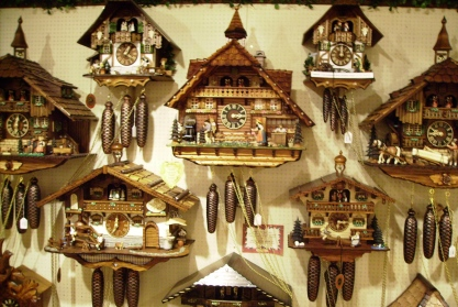 cuckoo clocks were first created in the Black Forrest of Bavaria during the 1600's.