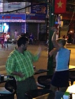 Street dancing the night away!