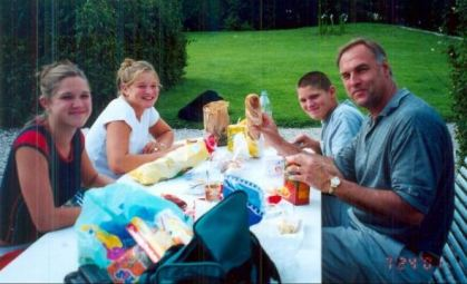 Picnicking in the French countryside, 2001