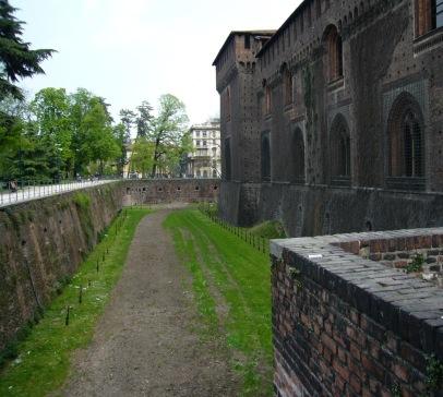 Moat of Sforza Castle