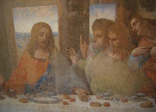 L'Ultima Cena, or The Last Supper, painted by Leonardo da Vinci around 1495