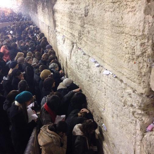 Incredible display of faith. — at The Western Wall - הכותל המערבי.