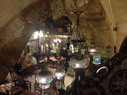 Dinner in a cave within the Armenian Quarter, Old City, Jerusalem