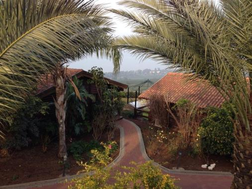 It is a great view of Tiberius and the Sea of Galilee from our cabin community in Ramot.