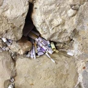 Prayers left for divine response. — at Western Wall הכותל המערבי