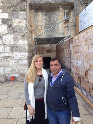 My new friend, Farraj, escorted us through Church of the Nativity. He plans to visit us in D.C. one day. :)
