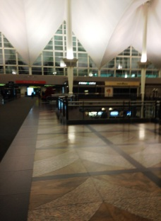 Denver International Airport by night