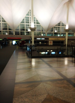 Denver International Airport by night