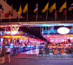 Walking Street is lined with open-air bars