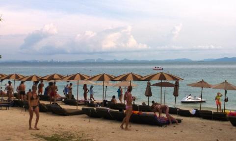 Tawean Beach on Ko Larn Island
