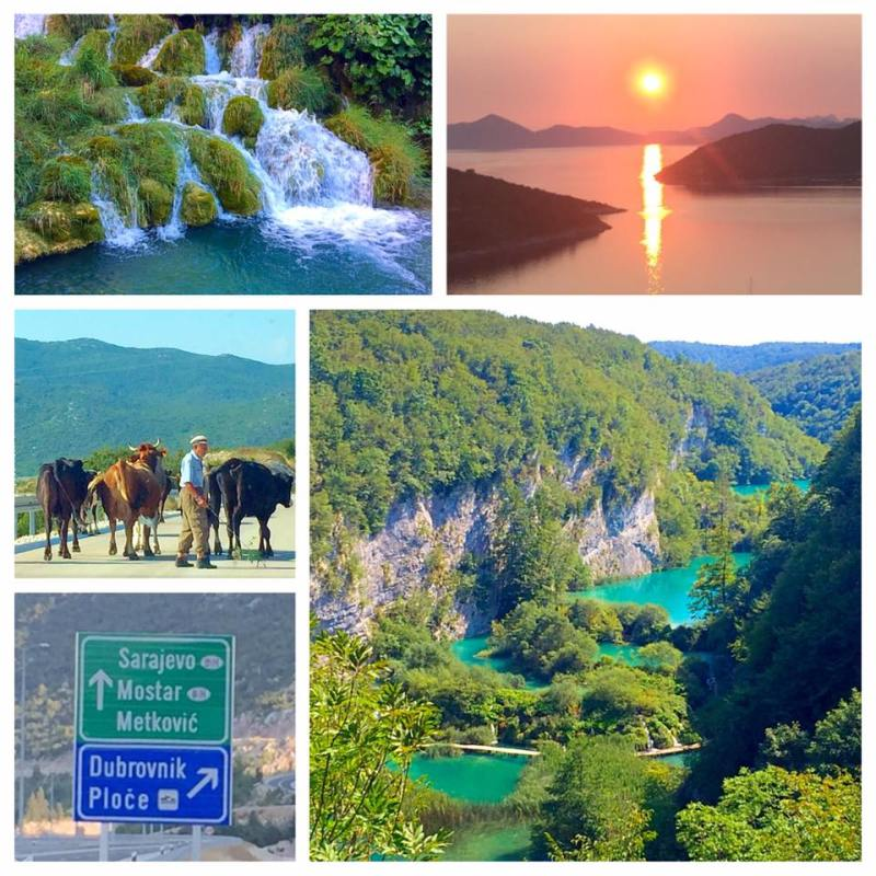 Plitvice Lakes National Park and the Croatian coastline