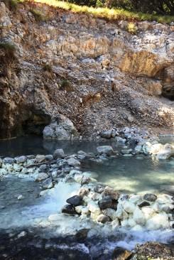 Volcanic hot springs