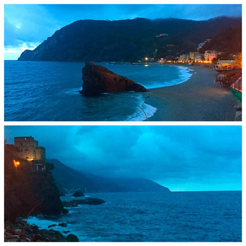 Evening beach side stroll in Monterosso