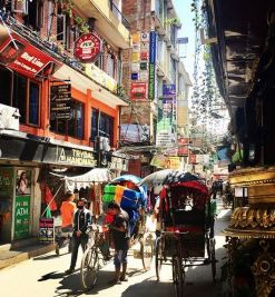 Thamel tourist district, Kathmandu, Nepal