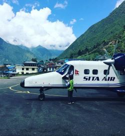Arriving in Lukla, Nepal