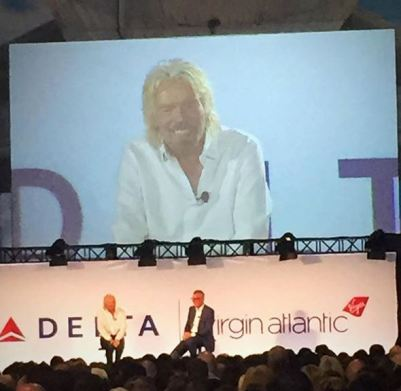 Richard Branson visits Delta
