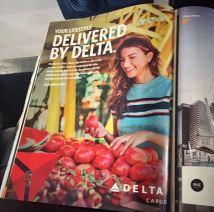 Delta Cargo's Sky Magazine debut